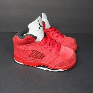 Nike Air Jordan V Red Suede Sz 6C